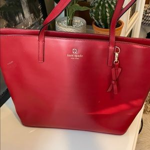 Kate Spade Christmas Red tote